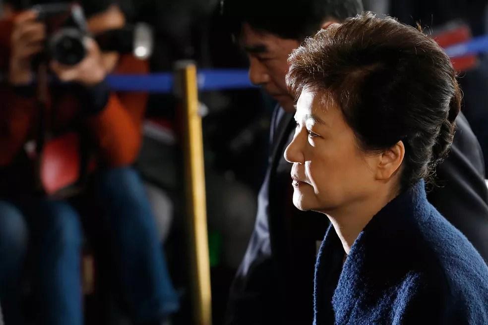 A líder sul-coreana deposta Park Geun-hye  (Foto: Kim Hong-ji/Pool AP)