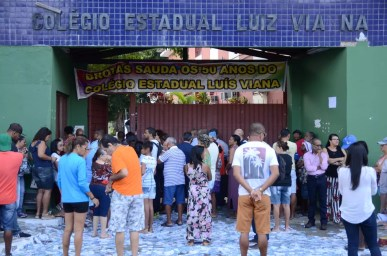 Escola Estadual Luiz Viana é o maior colégio eleitoral de Salvador — Foto:  Dan Figliuolo