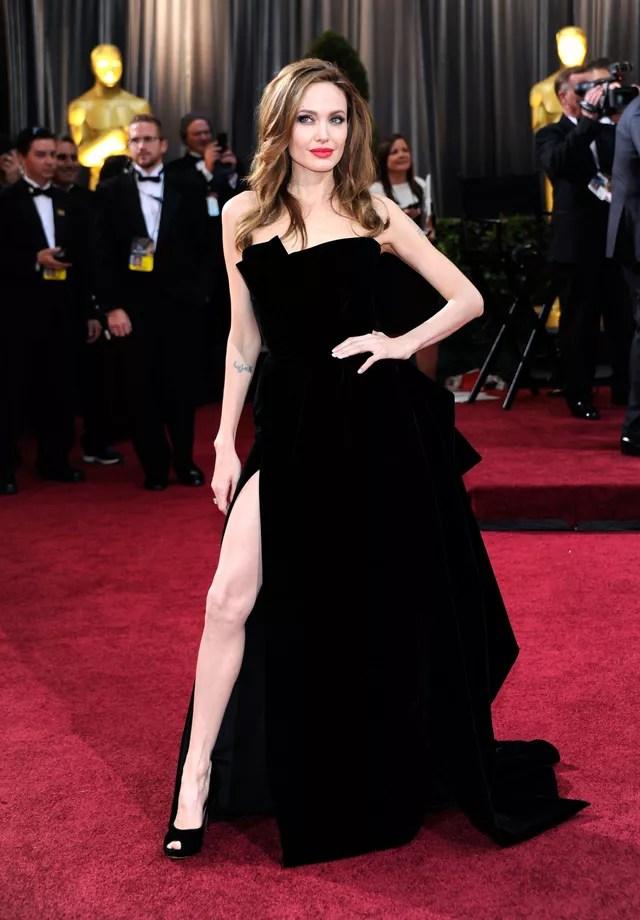 Angelina Jolie no Oscar de 2012 (Foto: Getty Images)