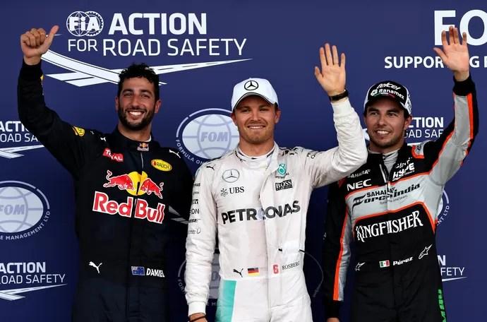 Nico Rosberg fez a pole position para o GP da Europa, em Baku (Foto: Getty Images)
