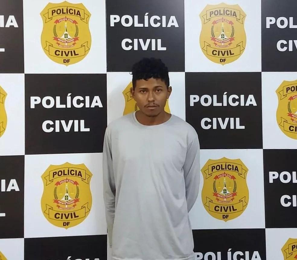 Nahim Lemoel da Silva Ribeiro é suspeito de ter jogado álcool e ateado fogo na sua companheira em São Luís (MA) — Foto: Divulgação/Polícia Civil do Maranhão