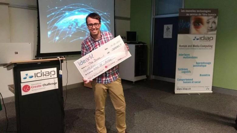 Renato Rodrigues de Pilar do Sul ganhou premio internacional de tecnologia na Suíça (Foto: Arquivo Pessoal/Renato Rodrigues)