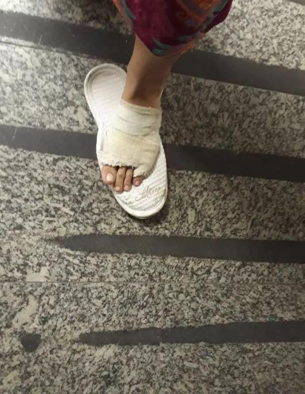 Cristiane Machado mostra agressões do ex-marido (Foto: Arquivo pessoal)