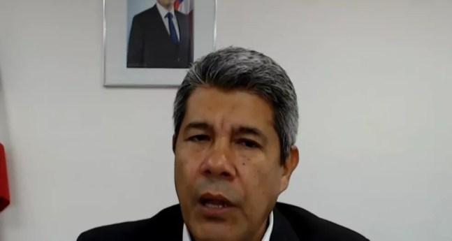 O secretário de educação do estado, Jerônimo Rodrigues, falou sobre a aplicação de testes em estudantes do sul do estado — Foto: Reprodução/TV Bahia