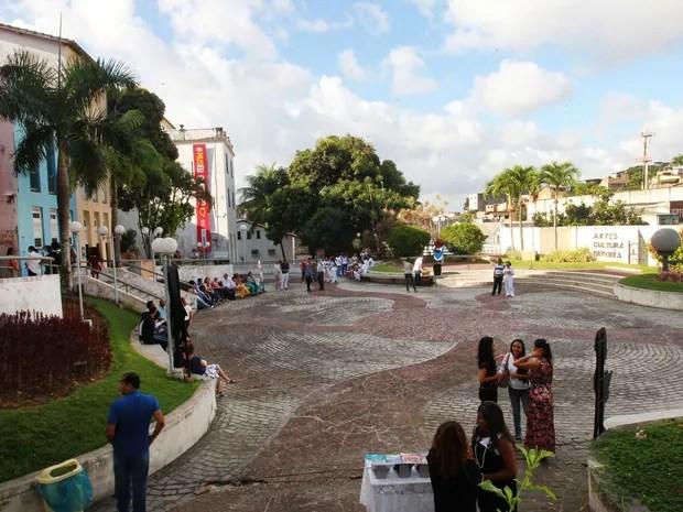Um dos estacionamentos reabertos fica próximo à Praça das Artes (Foto: Pedro Moraes/ GOVBA)