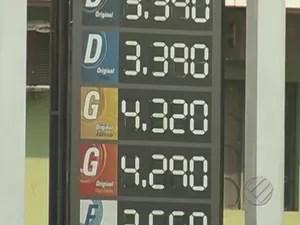 Valor da gasolina chega a R$ 4,32 em Parauapebas.  (Foto: Reprodução/TV Liberal)