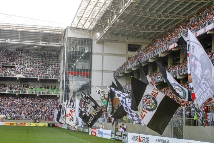 Torcida do Atlético-MG não poderá levar faixas, bandeiras e nem instrumentos — Foto: Pedro Souza/ Atlético-MG