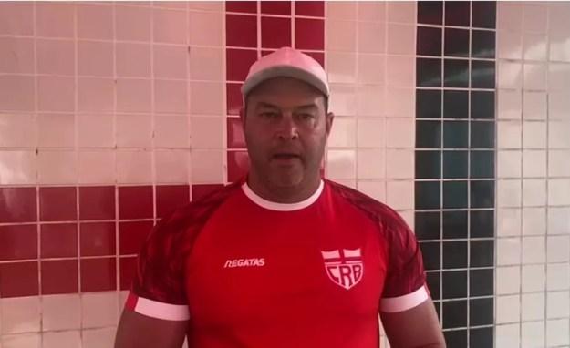 Roberto Fernandes mantém mistério na escalação do Galo — Foto: Divulgação/Ascom CRB