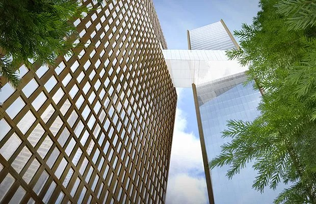 Detalhe da integração entre os prédios (Foto: Divulgação)