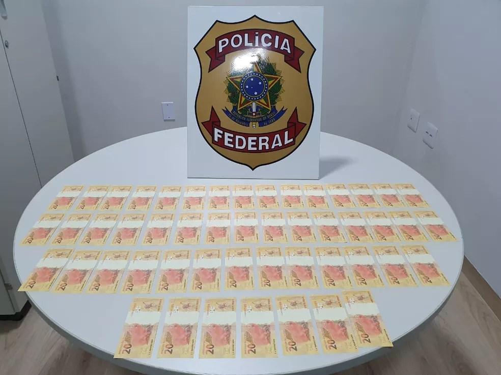 Crime de moeda falsa pode gerar pena de 12 anos de prisão — Foto: Polícia Federal/Divulgação