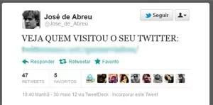 Post publicado por cibercriminoso no perfil do ator José de Abreu (Foto: Reprodução)