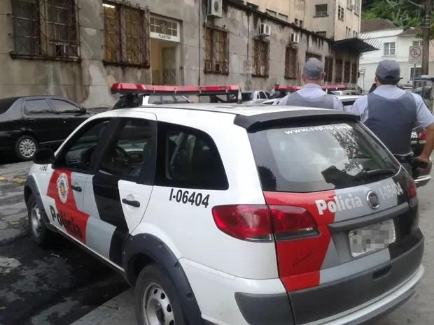 Polícia Militar, em Santos, SP (Foto: Divulgação / Polícia Militar)