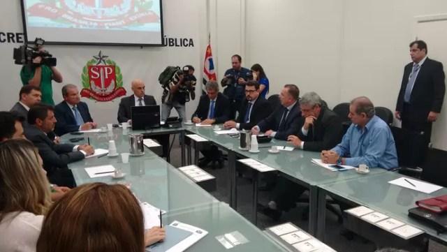 Secretaria de Segurança Pública SP violência torcidas (Foto: Yan Resende)