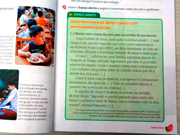 Texto conta história de casal que adotou criança com deficiência visual (Foto: Ana Claudia Ferreira/ G1)