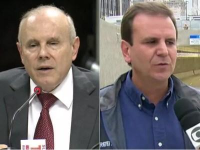 Advogados de Cunha pediram para que Guido Mantega e Eduardo Paes substituam testemunhas em processo da Lava Jato (Foto: Reprodução / GloboNews )