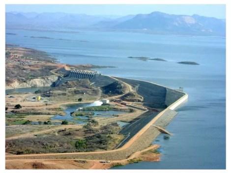 Açude Castanhão está com menor nível desde que foi inaugurado (Foto: DNCS/Divulgação)
