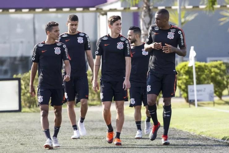 Elenco do Corinthians terá tempo livre para treinar e conhecer melhor o método de Jair Ventura — Foto: Daniel Augusto Jr/Ag.Corinthians
