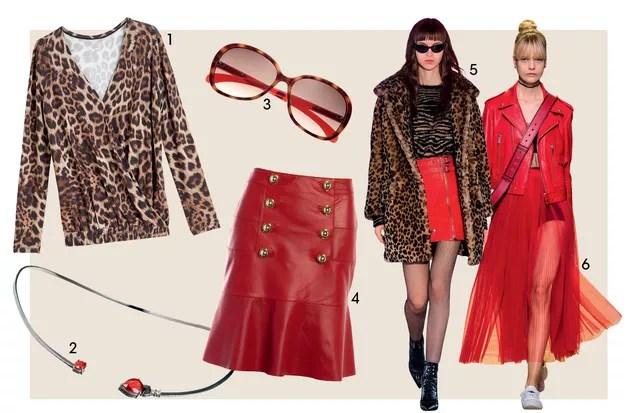 1. Ana Hickmann R$ 489 2. Andrea Conti R$ 15 Mil 3. Calvin Klein Jeans Na Marchon R$ 420 4. Bo.bô R$ 2.498 5. Just Cavalli 6. Dior (Foto: Imaxtree e Rafael Evangelista (Stills))