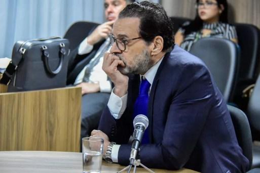 Henrique Alves depôs à Justiça Federal sobre acusações da Operação Manus (Foto: Pedro Vitorino)