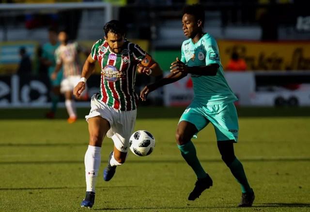Henrique Dourado em ação pelo Fluminense (Foto: Lucas Merçon/Fluminense FC)