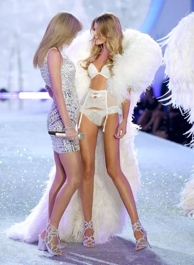 Taylor Swift e Maryna Linchuk (Foto: AFP / Agência)