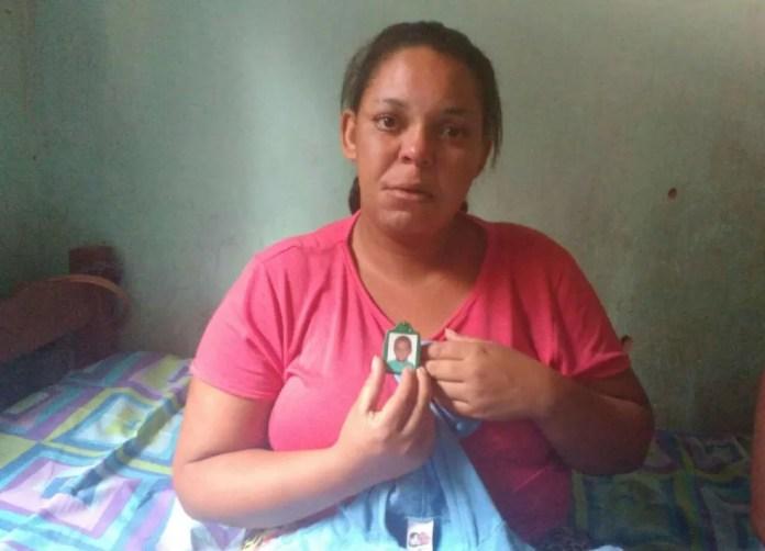 Mãe de Juan Miguel (Foto: Juliana Peixoto/ G1)