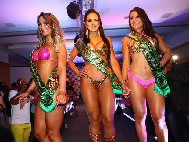 Eliana Amaral, Dai Macedo e Jessica Amaral na final do Miss Bumbum 2013 (Foto: Iwi Onodera/ EGO)