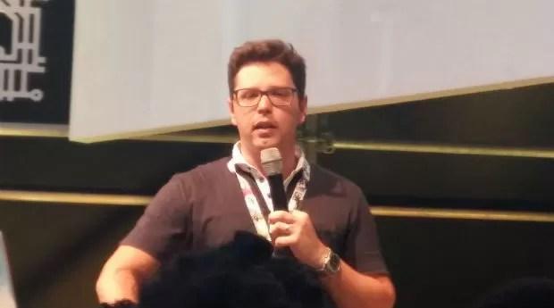 Bruno Romano apresenta estratégias de persuasão durante a Campus Party (Foto: Talita Mônaco)