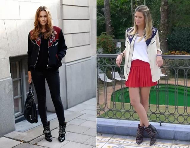 Caroline Blomst, dona do blog de street style Carolines Mode, e a it-girl brasileira Helena Bordon (Foto: Reprodução)
