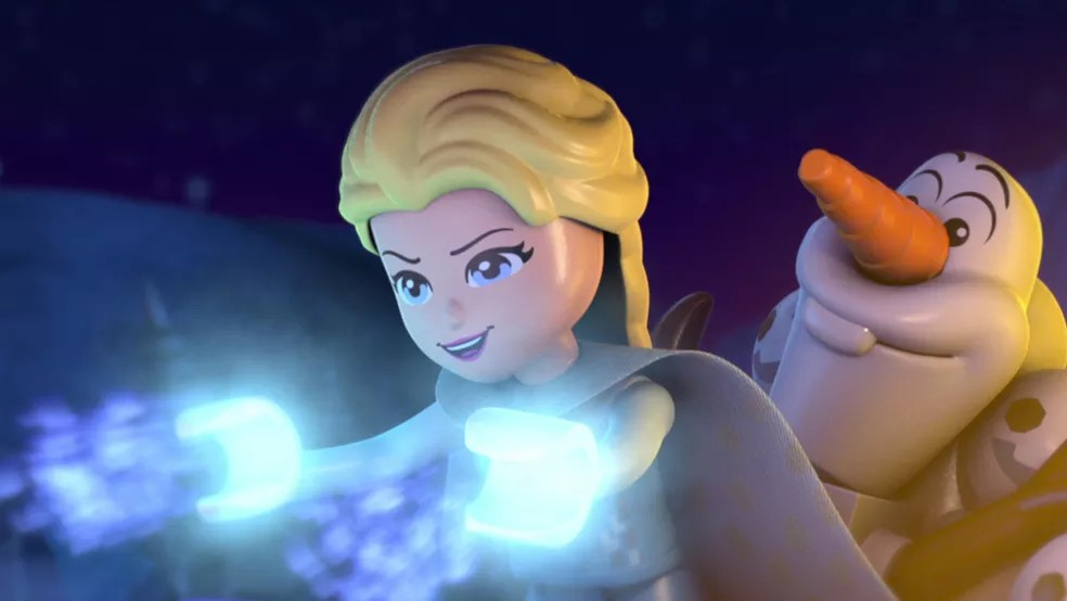 Curta-metragem Disney - Lego Frozen - Luzes Congelantes chega em dezembro ao catálogo da Netflix — Foto: Divulgação/Netflix