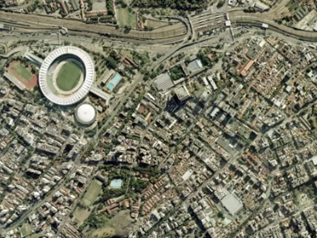 Maracanã, no Rio, em foto feita em 2 de outubro de 2013 (Foto: Google Earth)