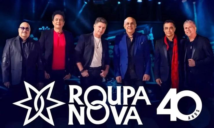 Roupa Nova na imagem promocional dos 40 anos de carreira da banda — Foto: Divulgação