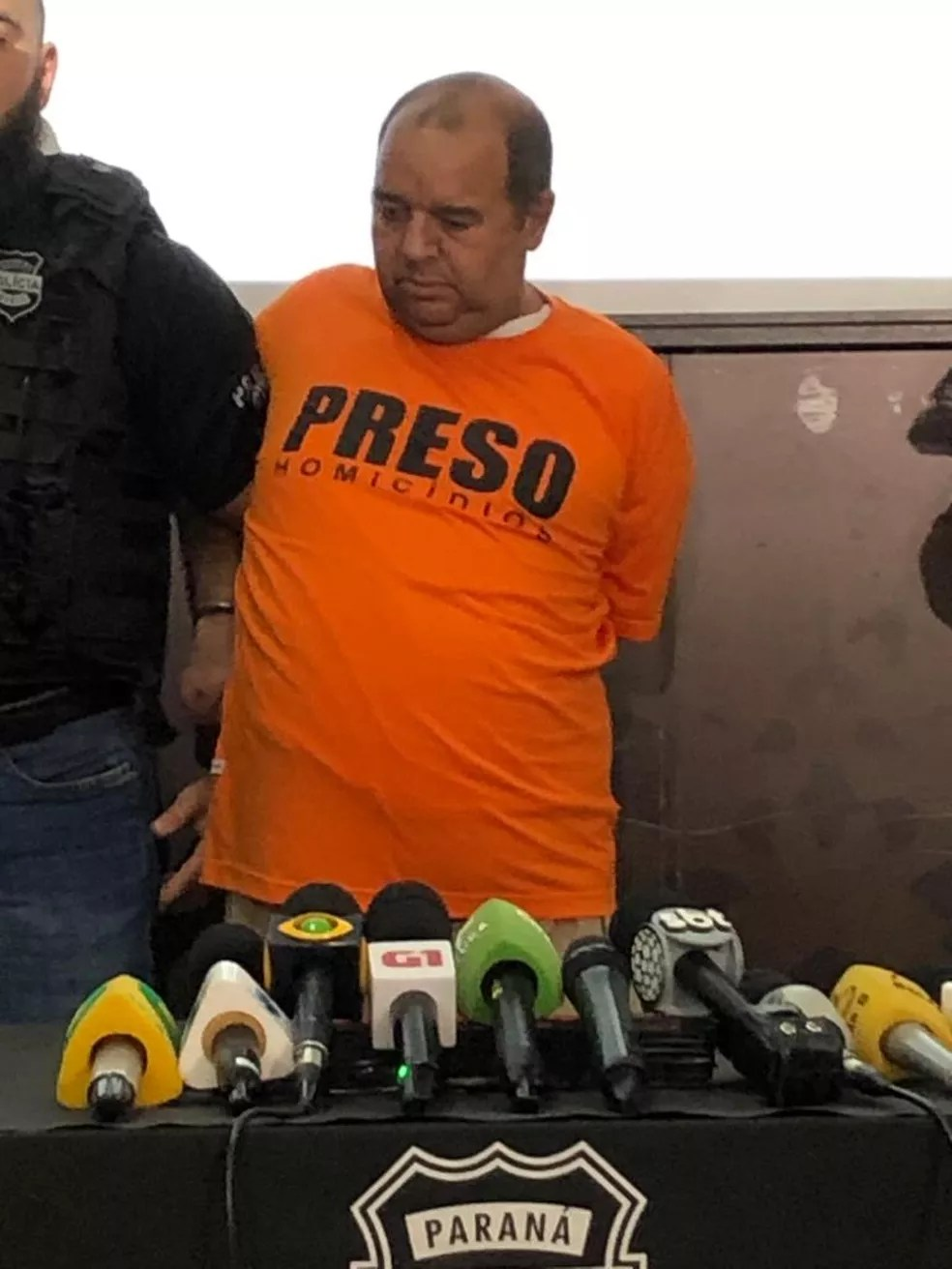 Carlos Eduardo dos Santos é suspeito de matar a menina Rachel Genofre e colocar o corpo em uma mala, em Curitiba — Foto: Ana Ziimmermann/RPC