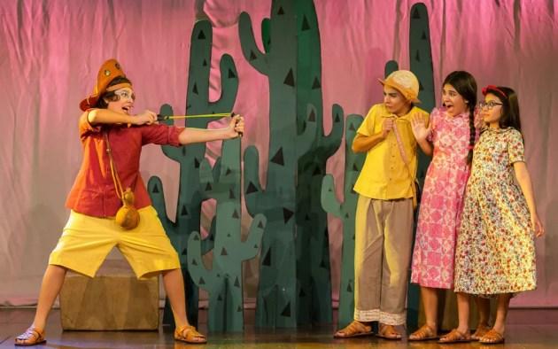 Espetáculo 'Virgulino Menino, Futuro Lampião' estreia em teatro de Salvador (Foto: Marlon Porto/Divulgação)