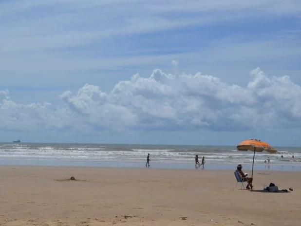 Praia em Aracaju, Sergipe (Foto: Marina Fontenele/G1)