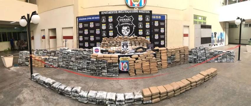 Uma tonelada de droga foi apreendida na última semana, no Amazonas (Foto: Divulgação/ Polícia Civil)