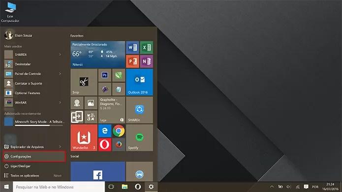 Windows 10 Home pode ser atualizado para o Pro no app de configurações (Foto: Reprodução/Elson de Souza)