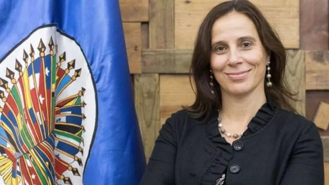 A advogada Antonia Urrejola acredita que a saída de Jean Wyllys do Brasil é uma responsabilidade do Estado, que não garantiu sua segurança — Foto: CIDH/via BBC