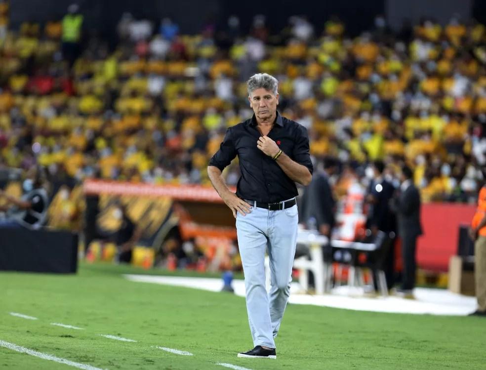 Renato Gaúcho é quem mais tem vitórias na história da Libertadores — Foto: Staff Images / CONMEBOL