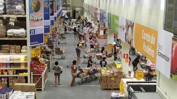 Supermercado em Natal, no Rio Grande do Norte — Foto: Pedro Vitorino