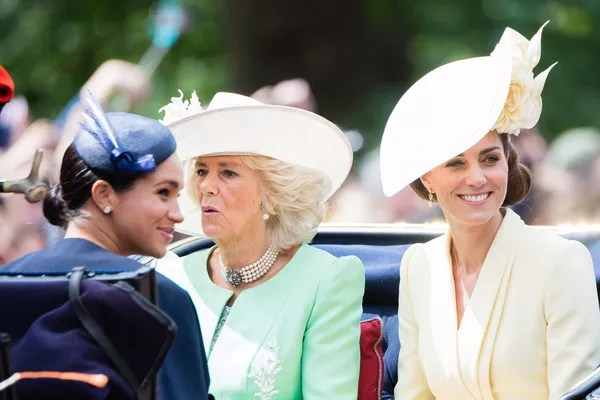 Meghan Markle, Camilla, Kate Middleton at a royal event in London in June 2019 (Photo: Getty Images)
