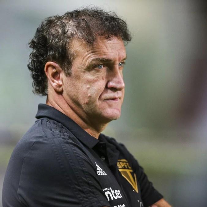 Cuca, técnico do São Paulo, cita remanejamento e prevê time melhor no segundo semestre — Foto: Cristiane Mattos/BP Filmes