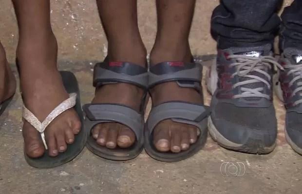 Meninos contam que conheceram suspeito há cerca de quatro meses em Goiás (Foto: Reprodução/ TV Anhanguera)