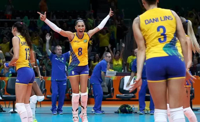 Jaqueline; Brasil x Rússia; vôlei (Foto: Reuters)