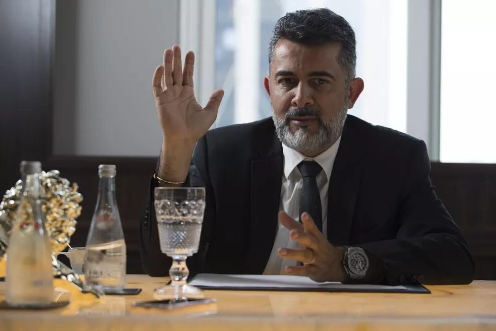 Cláudio Oliveira, sócio do Grupo Bitcoin Banco, preso nesta segunda-feira (5/7) acusado de fraude — Foto: Guilherme Pupo/Valor