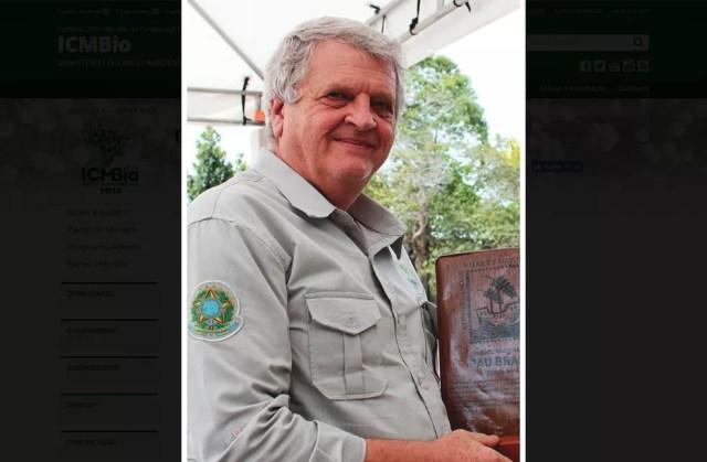 O ambientalista Adalberto Eberhard pediu demissão do cargo de presidente do ICMBio. — Foto: Ramila Rodrigues/ICMBio/Divulgação