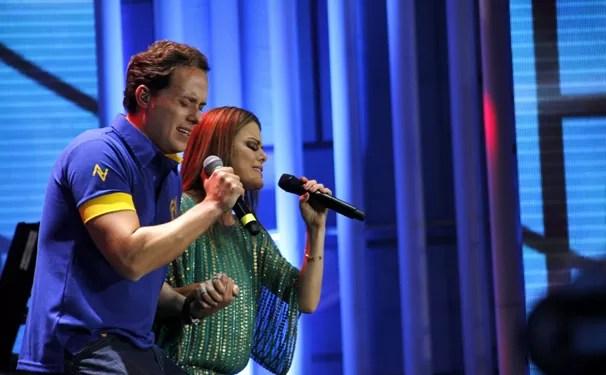 André Valadão e Ana Paula Valadão cantam no Festival Promessas 2013, que você vê no dia 15 de dezembro (Foto: Jane Franco/Globo)