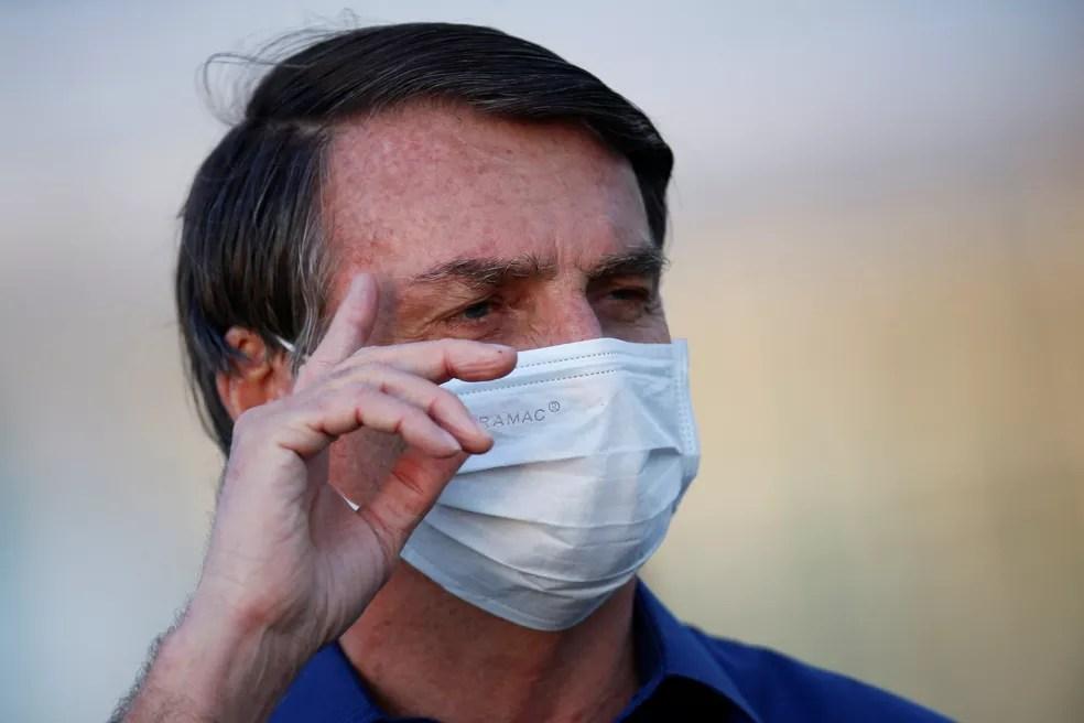 O presidente Jair Bolsonaro anunciou primeiro teste positivo para coronavírus há mais de duas semanas — Foto: Reuters/Adriano Machado