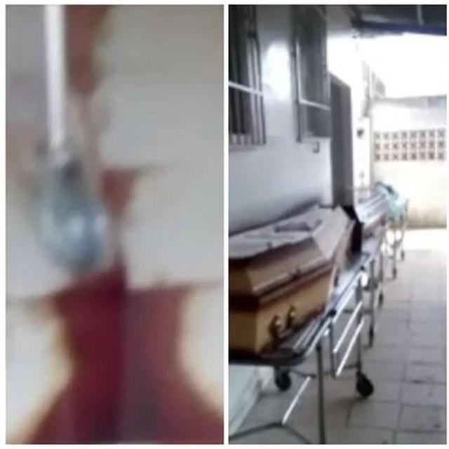 Em Rio Branco, funcionários denunciam péssimas condições de necrotério do PS onde ficam corpos de vítimas da Covid-19  — Foto: Reprodução