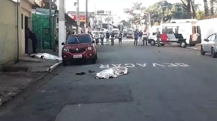 Jovem e seus pais foram mortos ao visitar família da namorada em SP — Foto: Reprodução/ TV Globo